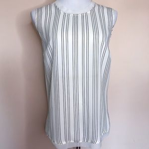 WHO WHAT WEAR | Cream Striped Tank